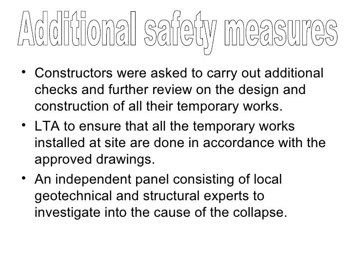 <ul><li>Constructors were asked to carry out additional checks and further review on the design and construction of all th...