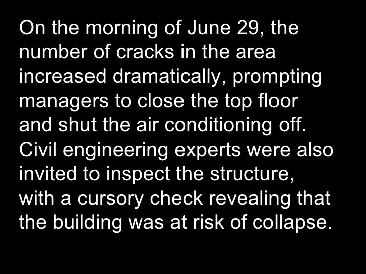 On the morning of June 29, the number of cracks in the area increased dramatically, prompting managers to close the top fl...