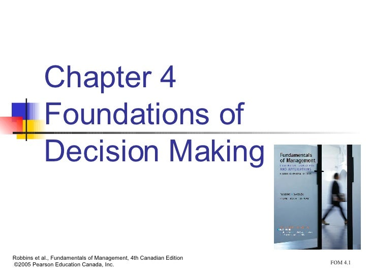 foundations of decision making This self-contained book provides three fundamental and generic approaches ( logical, probabilistic, and modal) to representing and reasoning with agent epistemic states, specifically in the context of decision making each of these approaches can be applied to the construction of intelligent software agents for making.