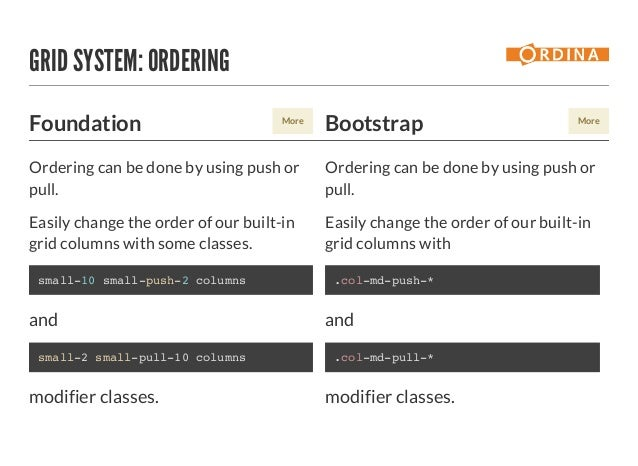Foundation vs Bootstrap - CC FE & UX