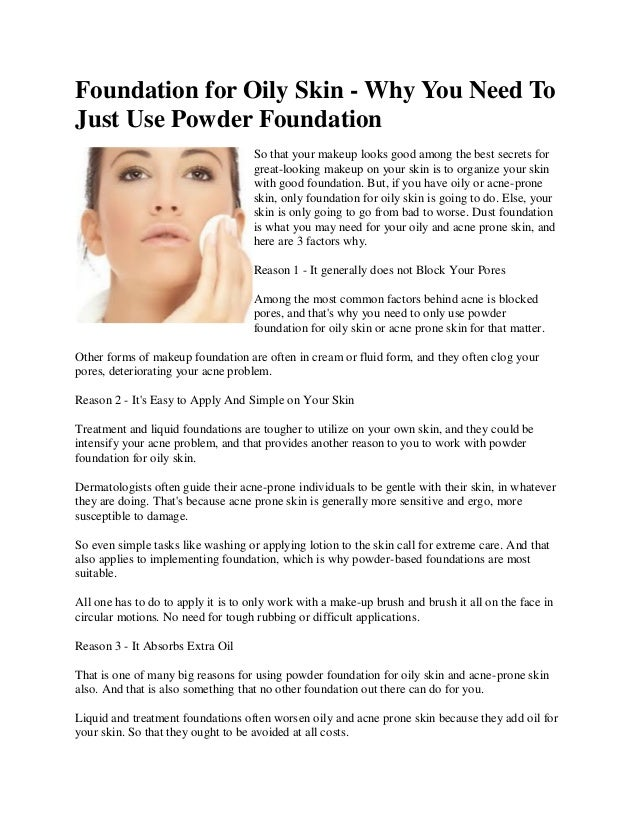 How To Apply Foundation Good