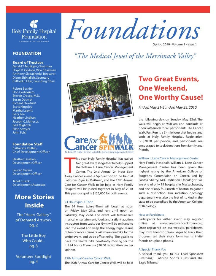 Foundations                                                      Spring 2010 • Volume 1 • Issue 1  FOUNDATION             ...