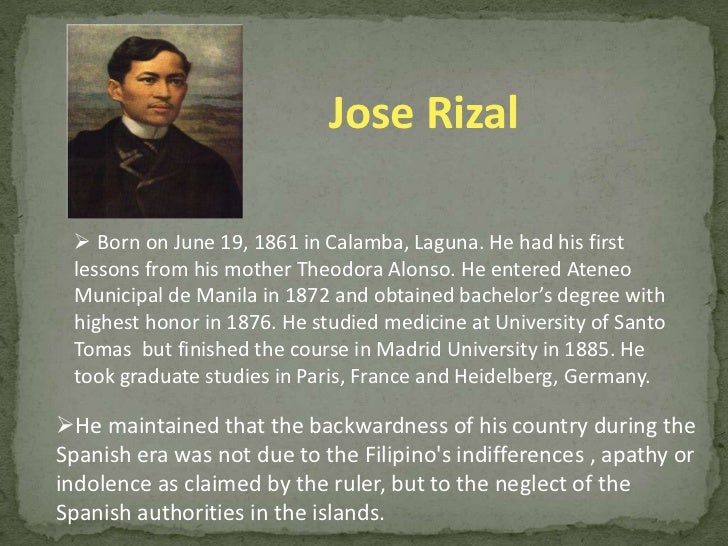 contribution of rizal