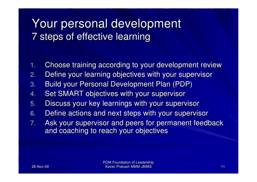 personal leadership and management development lsas Level 3 diploma in management the difference between leadership and management various theories of leadership and personal development: is a term that often refers to development of soft skills (eg assertiveness.