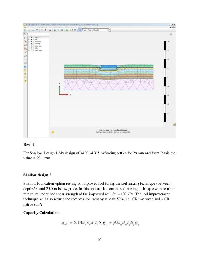 Term Project Paper on Design of Shallow and Deep Foundation for a cem…