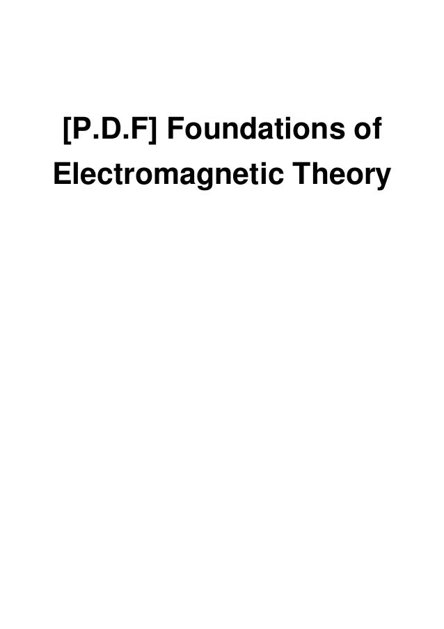 foundations of electromagnetic theory 4th edition pdf free download