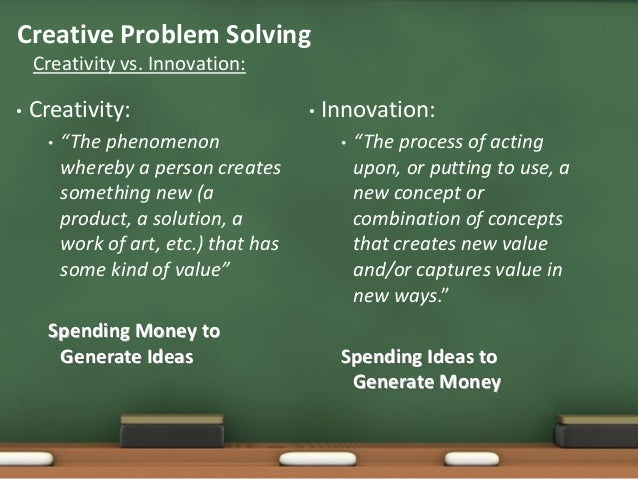 creative problem solving demonstration Start studying problem solving we have only a limited understanding of the processes involved in creative problem solving the following demonstration asks.