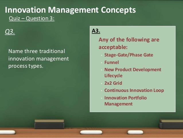 General concepts of innovation mgmt