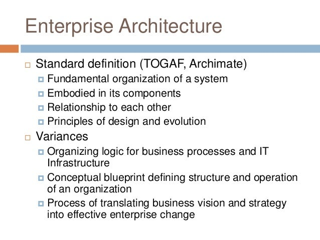 Foundations of enterprise architecture management and archi mate suppliers and customers 4 enterprise architecture standard definition malvernweather Gallery