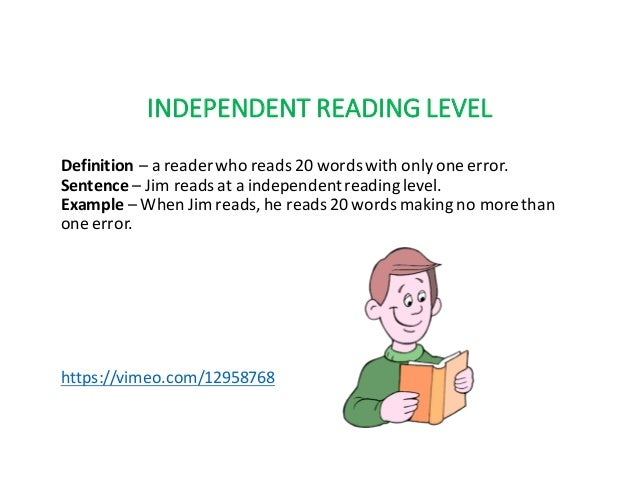 instructional reading level definition