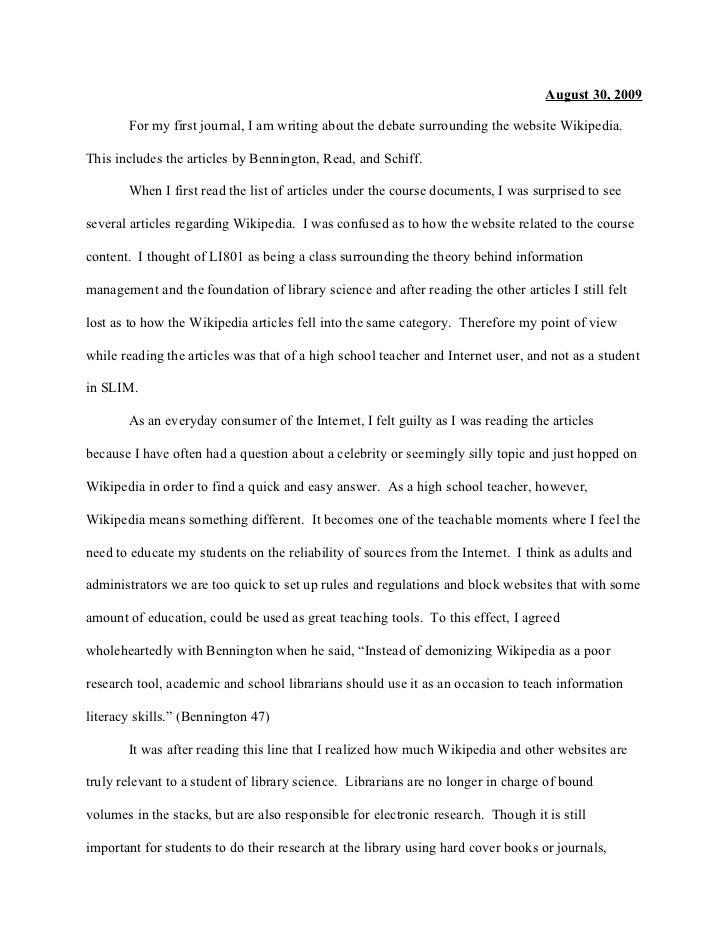 reflective journal sample pdf