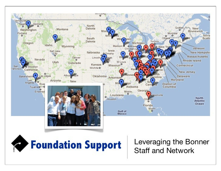 Leveraging the BonnerFoundation Support   Staff and Network