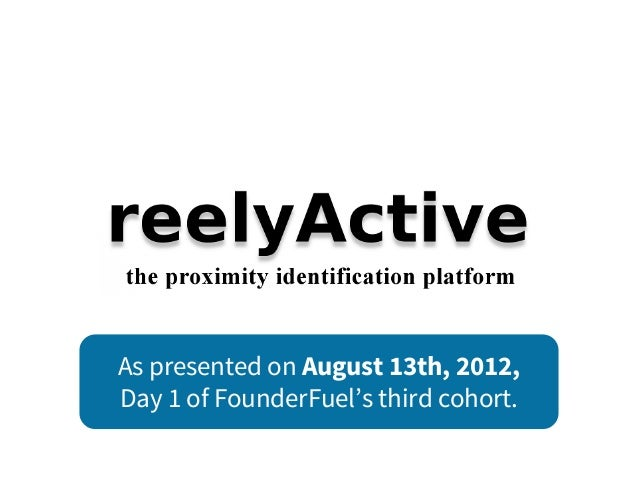 As presented on August 13th, 2012, Day 1 of FounderFuel's third cohort.