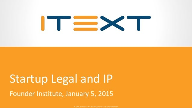 © 2014, iText Group NV, iText Software Corp., iText Software BVBA© 2014, iText Group NV, iText Software Corp., iText Softw...