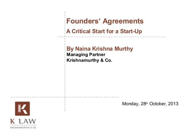 founders 39 agreement a critical start for a start up naina krishnam. Black Bedroom Furniture Sets. Home Design Ideas
