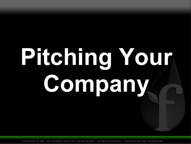 Pitching Your  Company