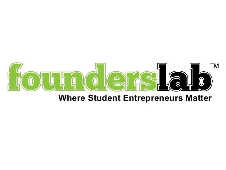 Where Student Entrepreneurs Matter