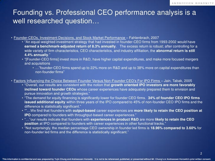 Founding vs Professional CEO Performance Analysis in SaaS Slide 2