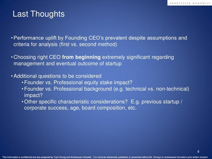 Founding vs Professional CEO Performance Analysis in SaaS Slide 8
