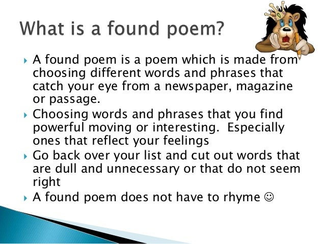 how to write a found poem