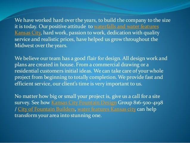 Fountain Design Services Kansas City 816-500-4198 Slide 3