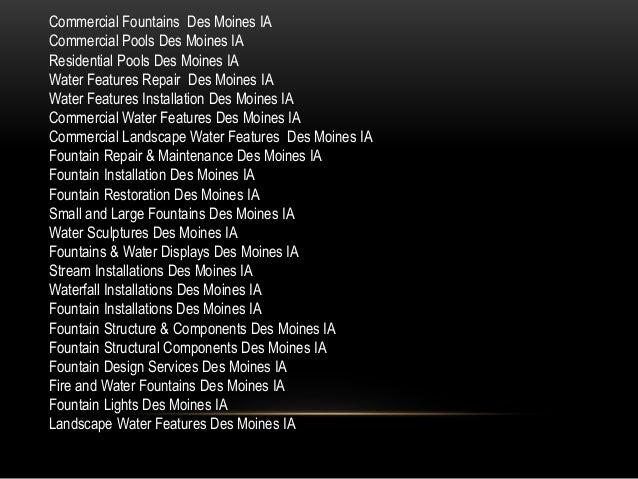 Fountain Restoration Des Moines IA 816-500-4198 Slide 3
