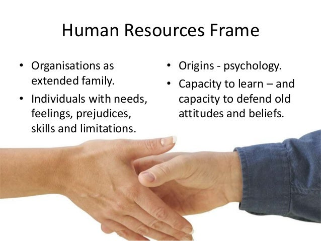weaknesses of human resource frame Leaders who approach change from a human resource frame focus on people bolman & deal's frames can be used at the planning stage of a change initiative to help.