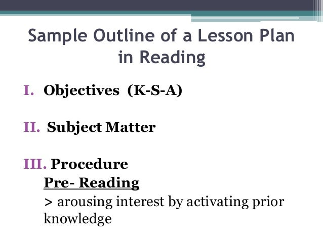 Lesson Plan: A Sample of Project Method