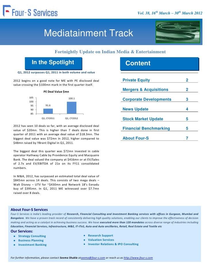 Vol. 38, 16th March – 30th March 2012                           Mediatainment Track                                      F...