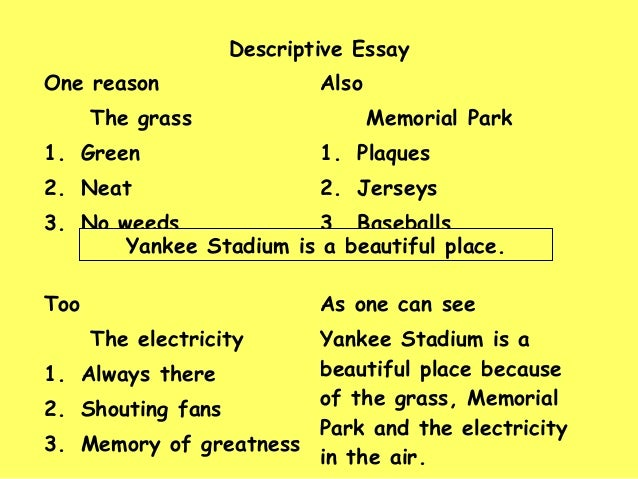 Description of a beautiful place essay