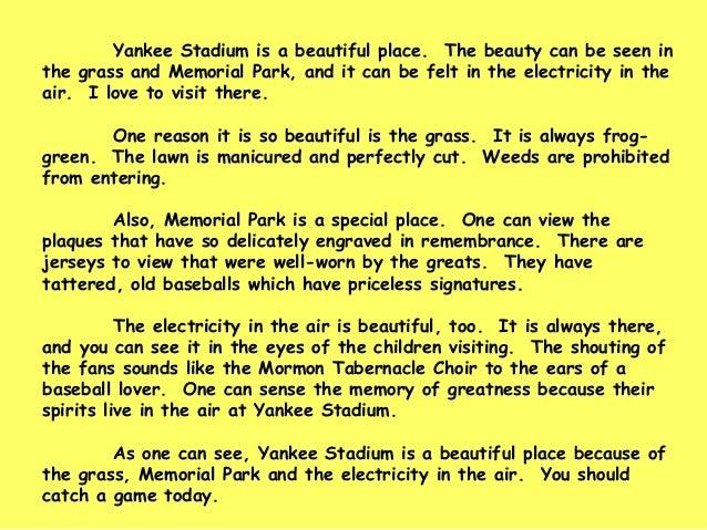 A visit to a park short essay