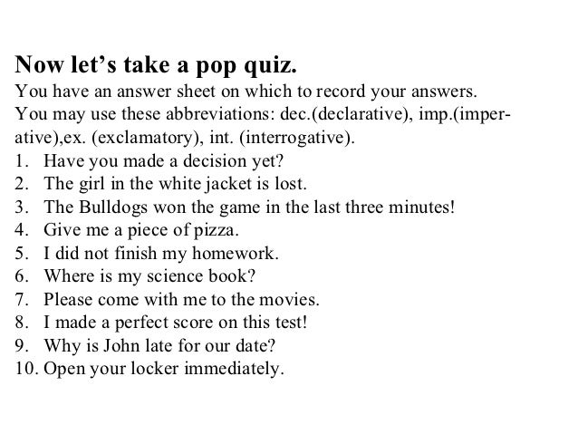 Worksheets Four Kinds Of Sentences Worksheet four kinds of sentences worksheets types sentences