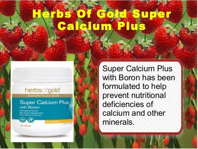 Herbs Of Gold Super Calcium Plus Super Calcium Plus with Boron has been formulated to help prevent nutritional deficiencie...