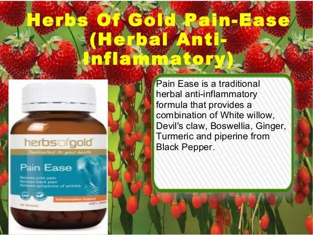Herbs Of Gold Pain-Ease (Herbal Anti- Inflammatory) Pain Ease is a traditional herbal anti-inflammatory formula that provi...