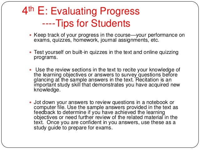 The Four E's of Effective Learning: Teaching Tips for Helping Students Become More Effective Learner