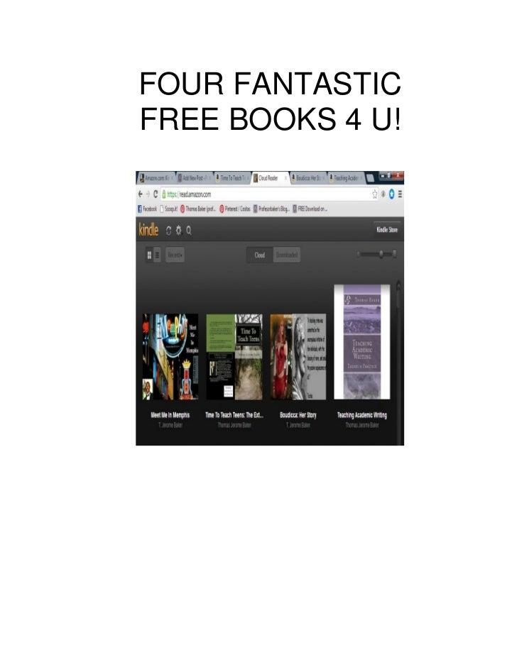 FOUR FANTASTICFREE BOOKS 4 U!