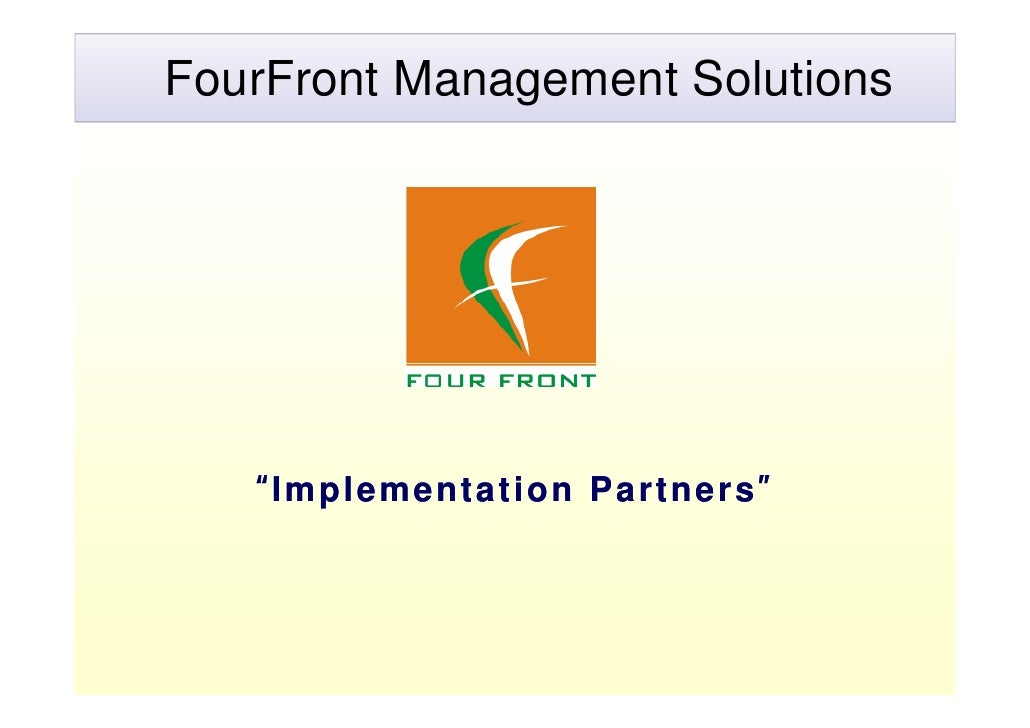 """FourFront Management Solutions        """"Implementation Partners"""""""