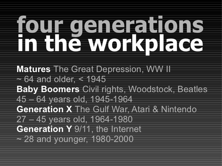 Four Generations In The Workplace: Top 10 Signs of Multigenerational Issues Slide 2