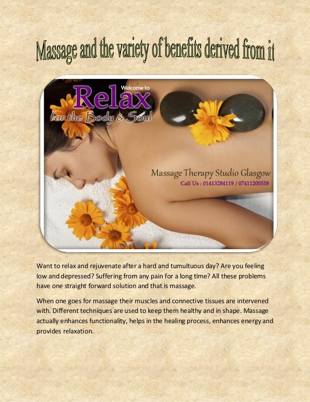 Want to relax and rejuvenate after a hard and tumultuous day? Are you feeling low and depressed? Suffering from any pain f...