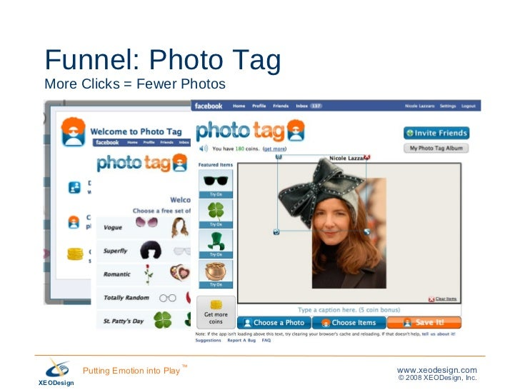 Funnel: Photo Tag More Clicks = Fewer Photos