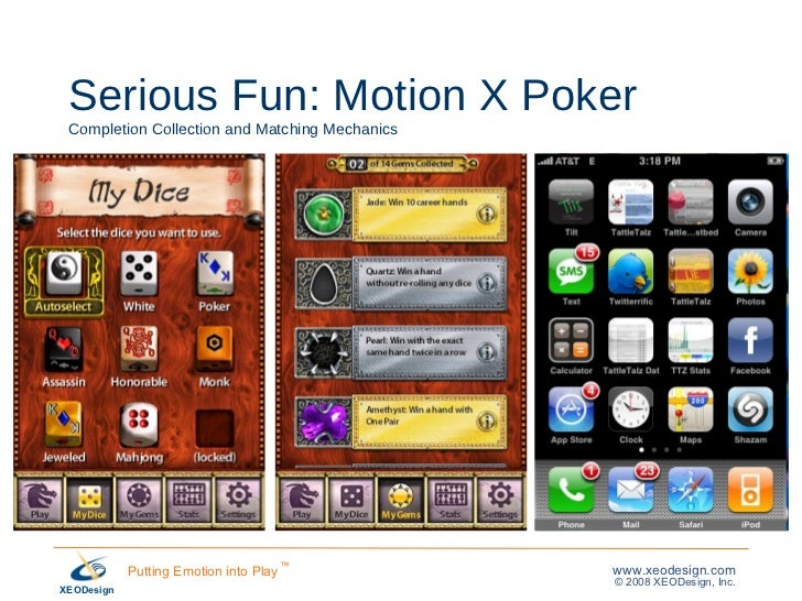 Serious Fun: Motion X Poker Completion Collection and Matching Mechanics