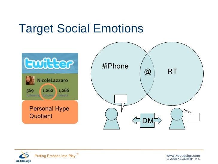 Target Social Emotions @ RT DM #iPhone Personal Hype  Quotient
