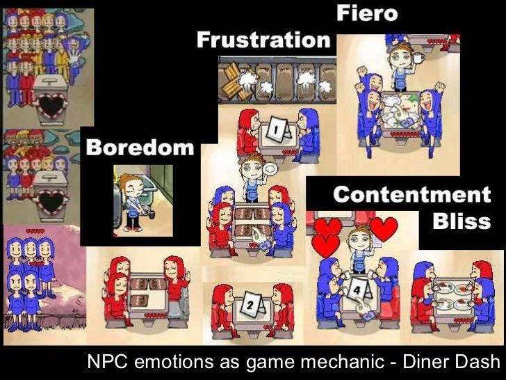 Diner Dash - emotions NPC emotions as game mechanic - Diner Dash