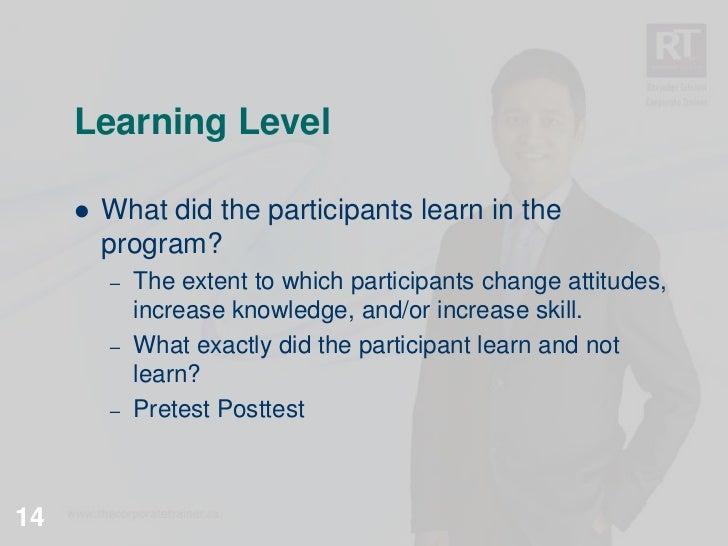 kirkpatrick levels of evaluation pdf