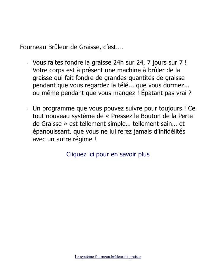 TÉLÉCHARGER FOURNEAU BRULEUR DE GRAISSE PDF GRATUIT