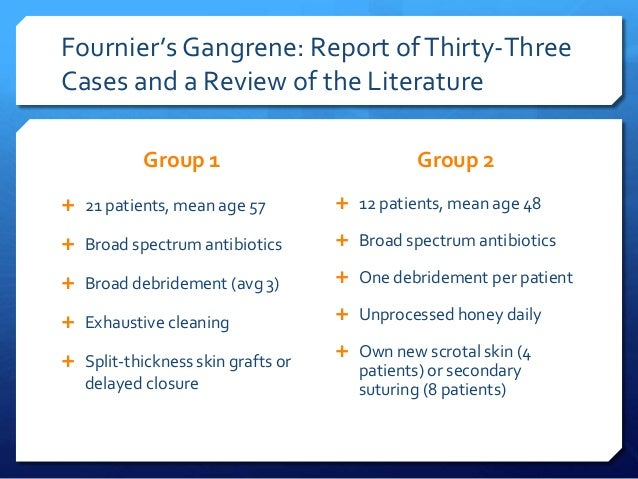 fourniers gangrene treatment antibiotics