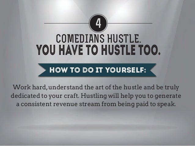 "4 COMEDIANS HUSTLE. REMEMBER: It's rare for even the best public speakers to express that they have ""natural ability"". The..."