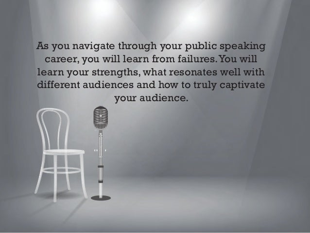 Comedians are a group of people who are forced to learn these things very quickly. Unlike public speakers, they risk the c...