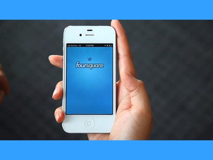 O que é Foursquare?                 - Aplicativo de compartilhamento                 baseado na geolocalização do usuário....