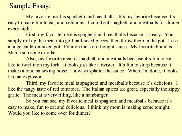 Essay on my favourite dish noodles
